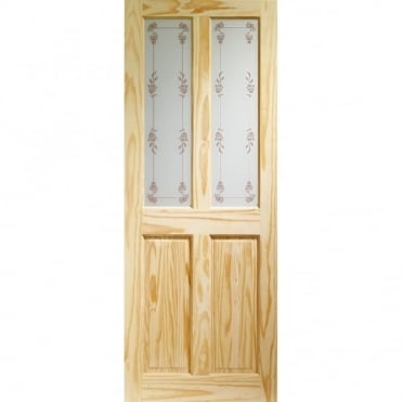 Internal Knotty Pine Victorian with Bluebell Glass Door