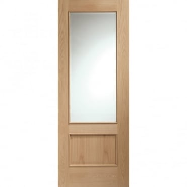 Internal Oak Andria with Clear Bevelled Glass and RM Door