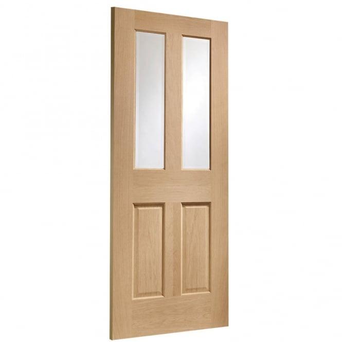 Internal Oak Malton With Clear Bevelled Glass Door