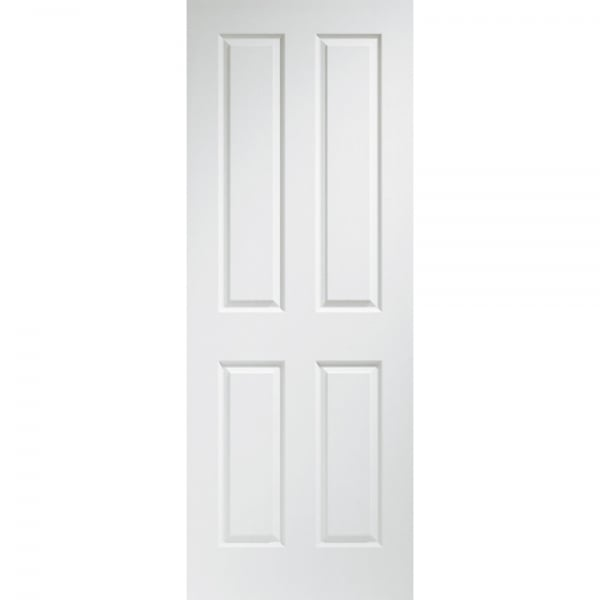 Internal pre finished white moulded victorian 4 panel door - Finished white interior doors ...