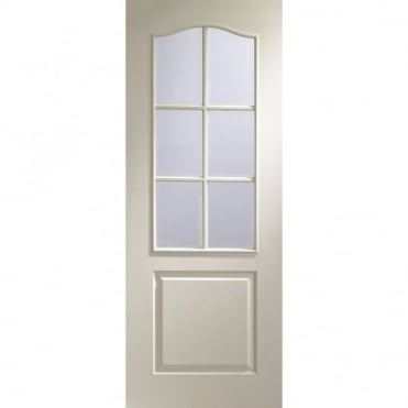 Internal White Moulded Classique 6 Light with Clear Bevelled Door