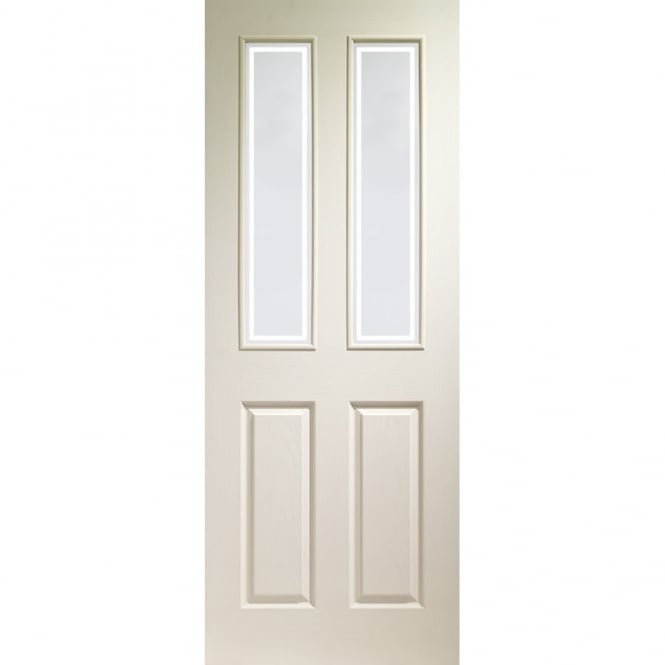 Internal White Moulded Victorian With Forbes Glass Door